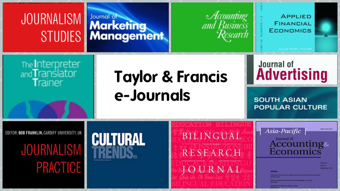 Taylor & Francis e-Journals   HSUHK Library E-bulletin